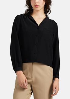 The Row Women's Griffin Silk Blouse