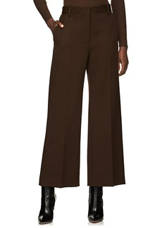 The Row Women's Ina Wool Wide-Leg Crop Trousers