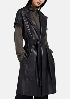 The Row Women's Jill Leather Belted Vest