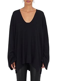 The Row Women's Lesli Silk-Cotton Oversized Sweater