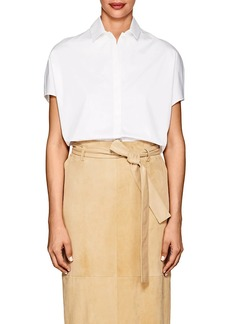 The Row Women's Loha Cotton Poplin Crop Top