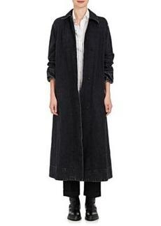 The Row Women's Luster Denim Oversized Coat