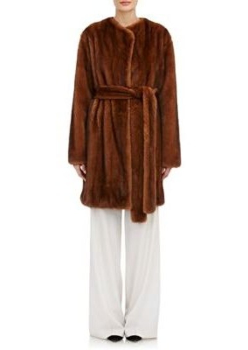 The Row Women's Narston Fur Coat-BROWN Size XS