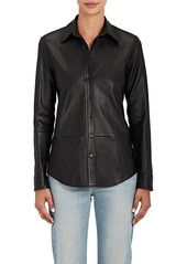 The Row Women's Nopa Leather Shirt