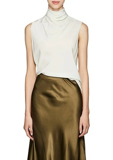 The Row Women's Ray Silk Cowlneck Top