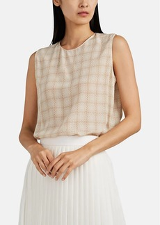 The Row Women's Shelly Squiggle-Print Silk Top