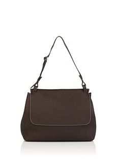The Row Women's Sideby Equestrian Leather Shoulder Bag - Dark Brown