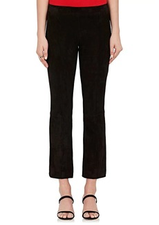 The Row Women's Suede Flared Crop Pants