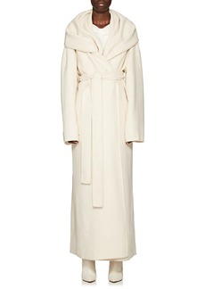 The Row Women's Tooman Cashmere-Wool Wrap Coat With Scarf