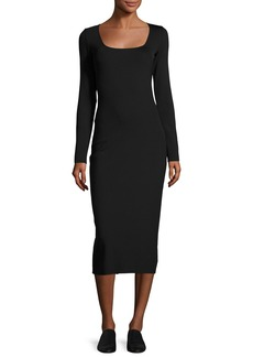 THE ROW Xenia Square-Neck Midi Dress