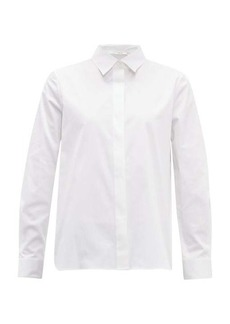 The Row Yssetra cotton-blend poplin shirt