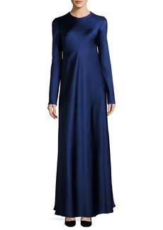 The Row Yulia Long-Sleeve Satin Gown