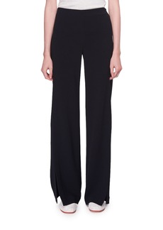 The Row Zaber Mid-Rise Wide-Leg Crepe Pants