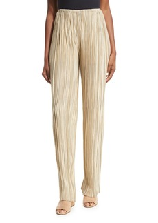 THE ROW Zani Pleated Silk Pants