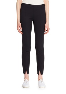 The Row Thilde Straight-Leg Ankle Textured Crepe Pants