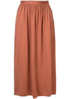 The Row Tina gathered waist skirt