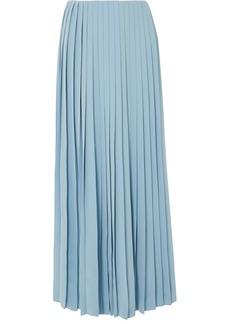The Row Tulu Pleated Silk Crepe De Chine Maxi Skirt