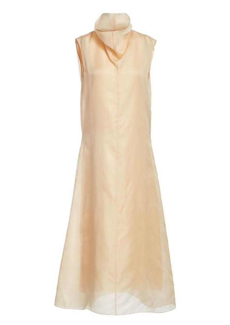 The Row Virginia Highneck Silk Dress