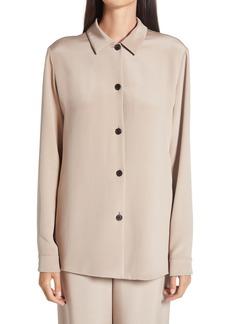 Women's The Row Alexis Woven Silk Button-Up Blouse