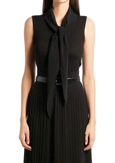 Women's The Row Charis Tie Cashmere Blend Top