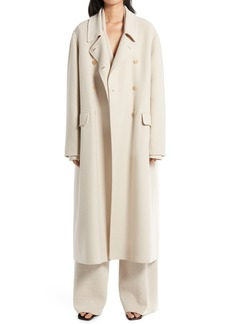 Women's The Row Dilona Double Brushed Cashmere & Wool Coat