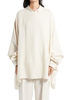 Women's The Row Estela Asymmetrical Wool Crepe Top