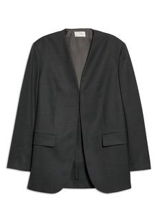 Women's The Row Fie Collarless Wool Jacket
