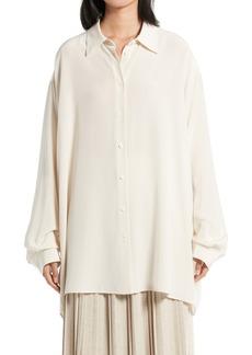Women's The Row Luka Silk Compact Crepe Blouse
