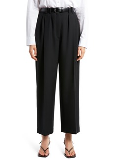 Women's The Row Marian Pleated Wool Ankle Pants