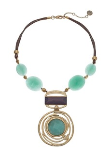 "The Sak Bead Drama Pendant Necklace 16"""