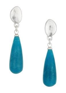 The Sak Elongated Stone Drop Earrings