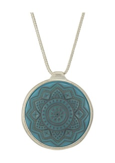 """The Sak Etched Inlay Pendant Necklace 28"""""""