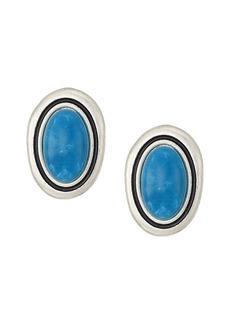 The Sak Large Stone Clip-On Earrings