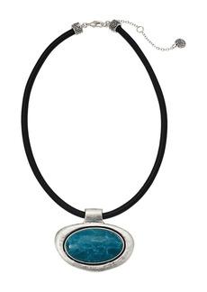 """The Sak Large Stone Pendant Necklace 16"""""""
