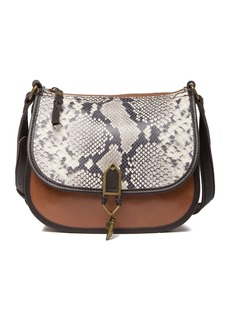The Sak Playa Leather Snakeskin Print Saddle Bag