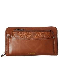 The Sak Sanibel Leather Zip Around Wallet
