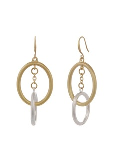 The Sak Two Tone Oval Drop Earrings