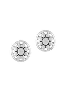 The Sak Cutout Engraved Star Stud Earrings