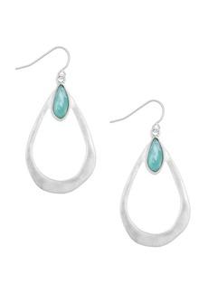 The Sak Faceted Stone Open Teardrop Earrings