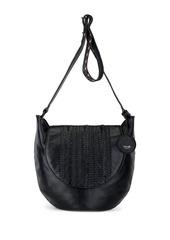 The Sak Hand-Woven Leather Crossbody Bag
