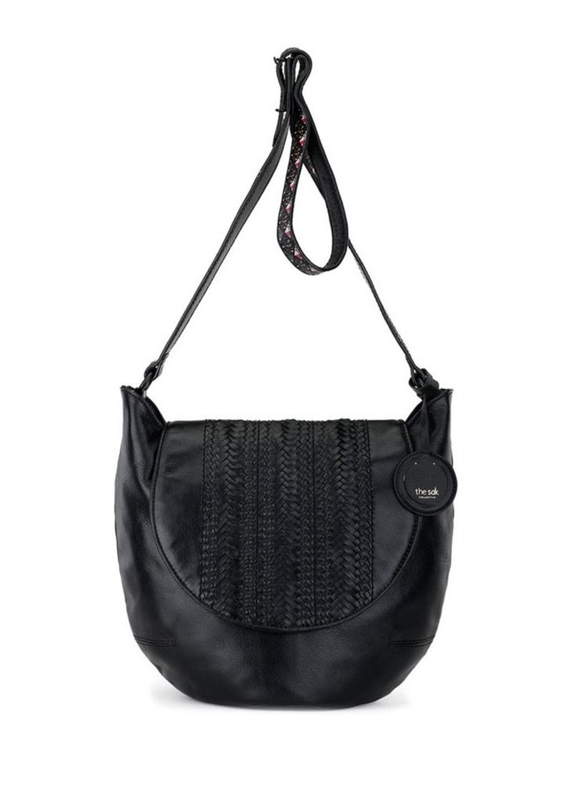 The Sak The Sak Hand-Woven Leather Crossbody Bag Now  99.00