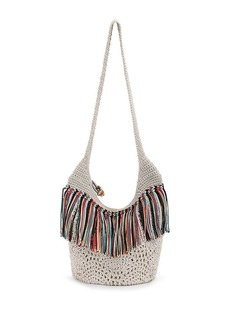 THE SAK Heritage Fringed Crochet Bucket Bag