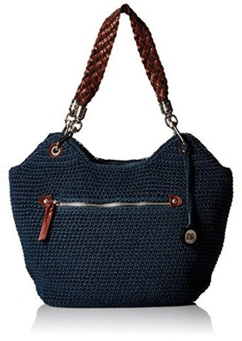 The Sak The Sak Indio Crochet Satchel Bag Vintage Blue