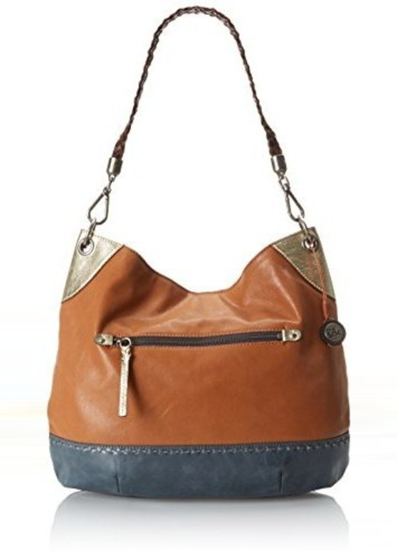 The Sak Indio Hobo Shoulder Bag, Golden Tobacco Block, One Size