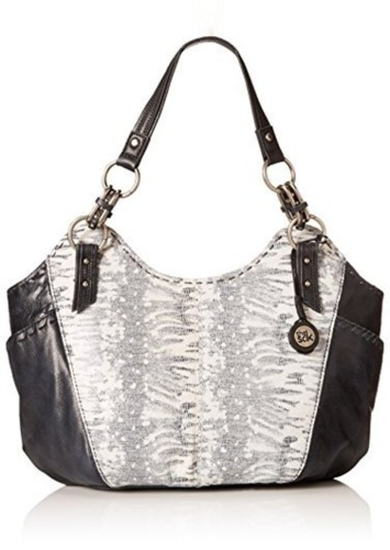 The Sak Indio Satchel,Black/White Exotic,One Size