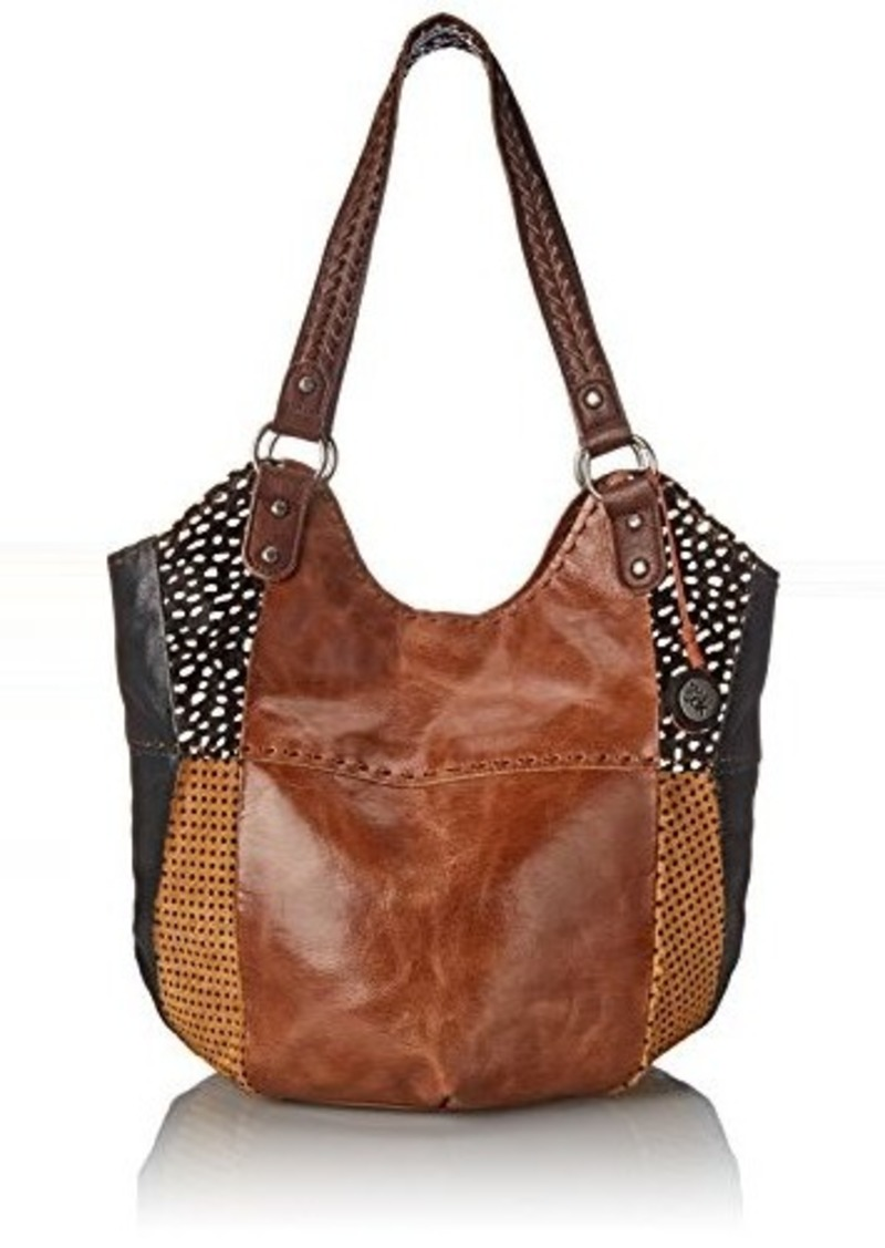 The Sak Indio Tote Bag, Tobacco Dotted Patch, One Size