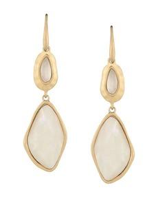 The Sak Large Stone Double Drop Earrings