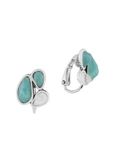 The Sak Mother-Of-Pearl Small Cluster Clip Earrings