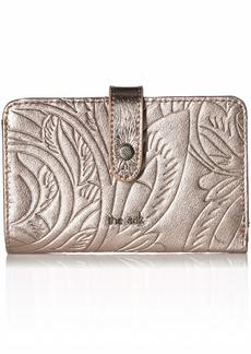 The Sak Silverlake Medium Wallet pyrite leaf embossed