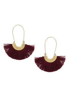 The Sak Thread Hoop Earrings